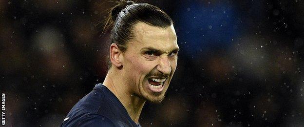 Zlatan Ibrahimovic of Paris Saint-Germain