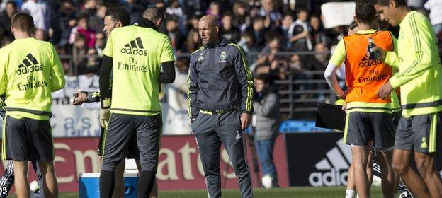 Zidane's first game in charge will be Saturday's home game against Deportivo La Coruna