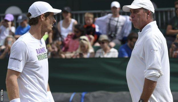 Andy Murray (left) with Ivan Lendl