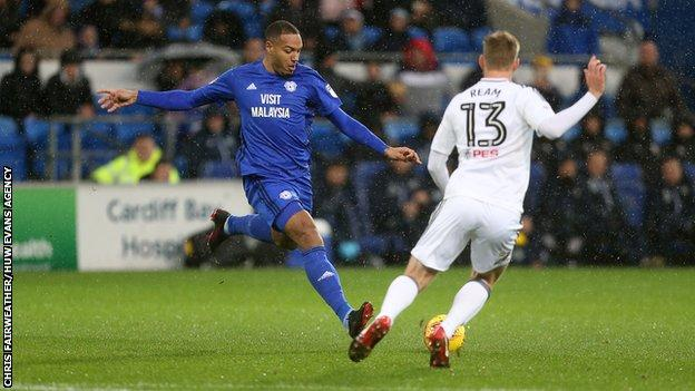 Kenneth Zohore scored on his first start for Cardiff since being injured in October