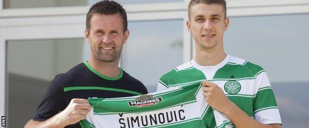 Ronny Deila and Jozo Simunovic