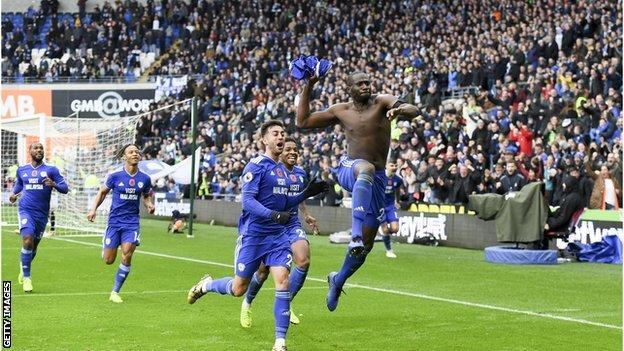 Sol Bamba celebrates scoring for Brighton