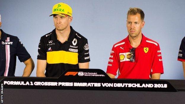 Nico Hulkenberg and Sebastian Vettel
