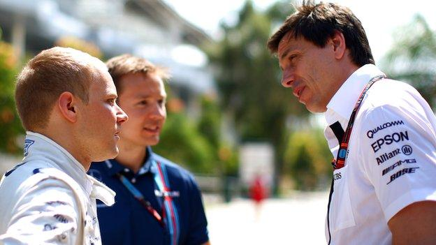 Wolff has a long relationship with Williams' Valteri Bottas and rates him highly