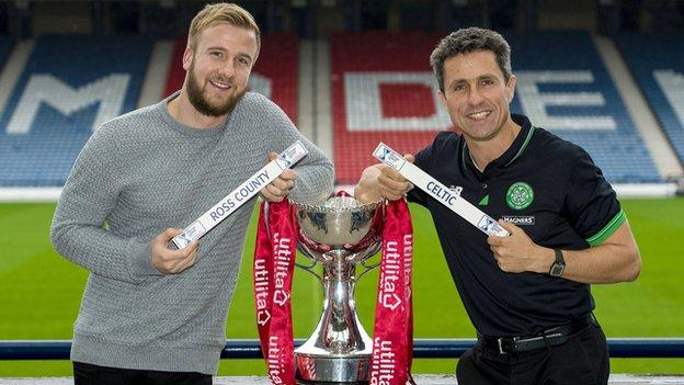 Ross County goalkeeper Scott Fox and Celtic assistant manager John Collins