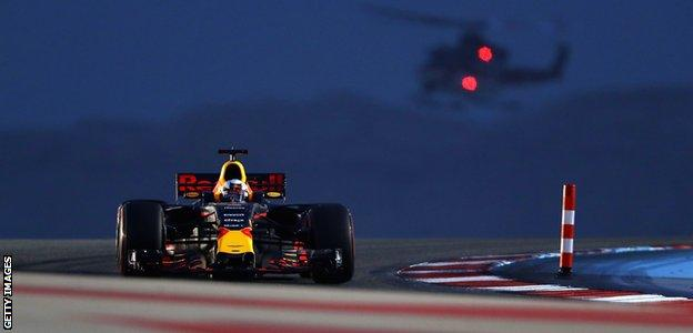 Daniel Ricciardo during the Bahrain Grand Prix in 2015