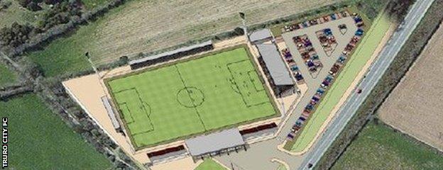 Truro City's planned new stadium