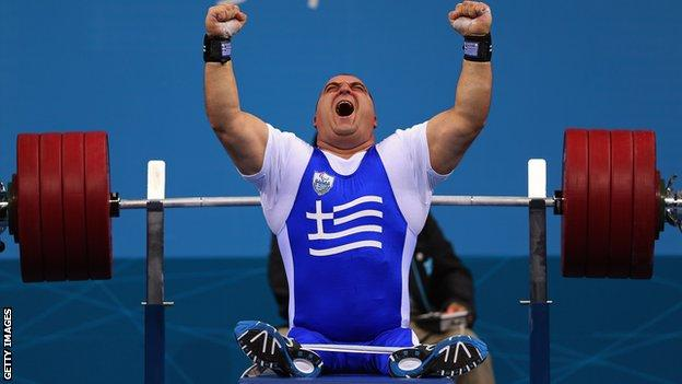 Greek powerlifter Pavlos Mamalos