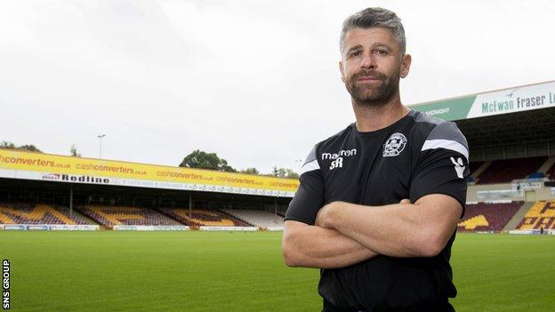 Motherwell manager Stephen Robinson