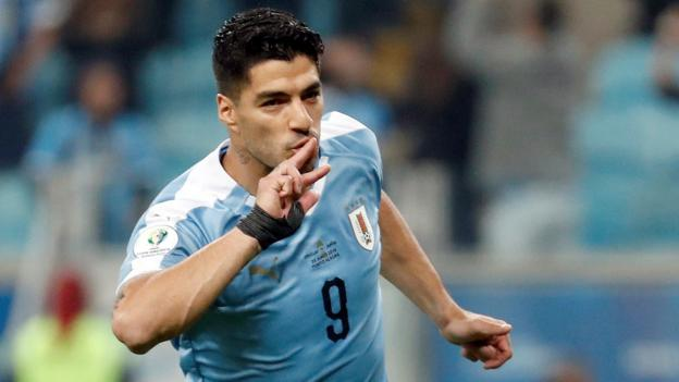 Copa America: Luis Suarez scores penalty as Uruguay twice come from behind in Japan draw thumbnail