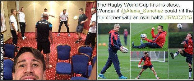 Stoke City and Arsenal
