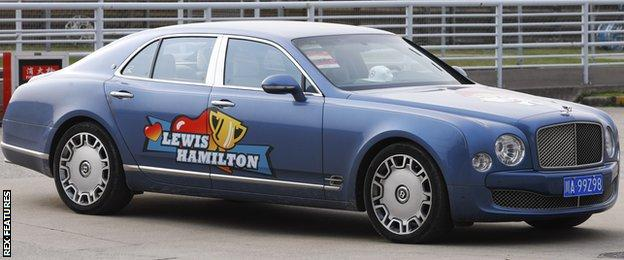 Lewis Hamilton's car