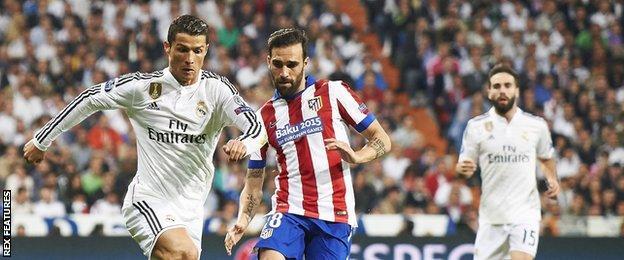 Jesus Gamez and Cristiano Ronaldo