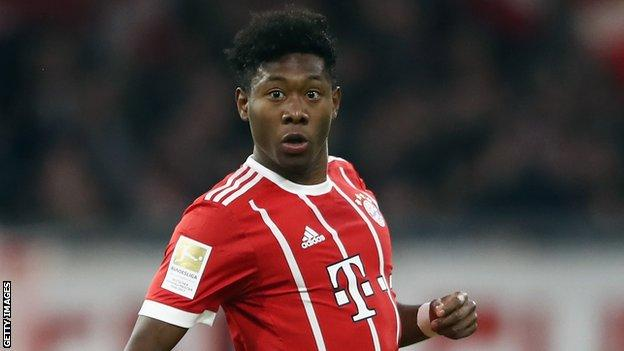 Bayern Munich left-back David Alaba