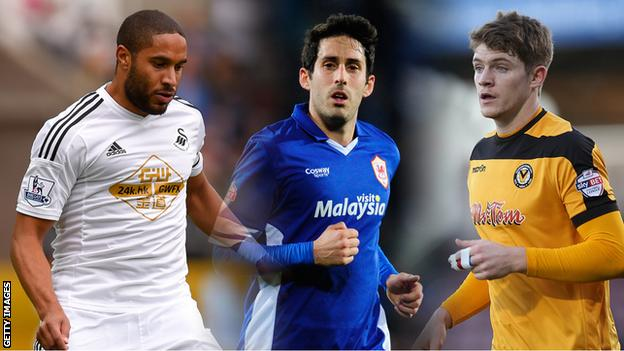 Ashley Williams, Peter Whittingham and Kevin Feely