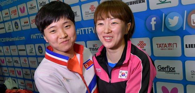 North and South Korea table tennis