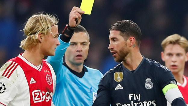 Sergio Ramos: Real Madrid defender denies intentional booking against Ajax thumbnail