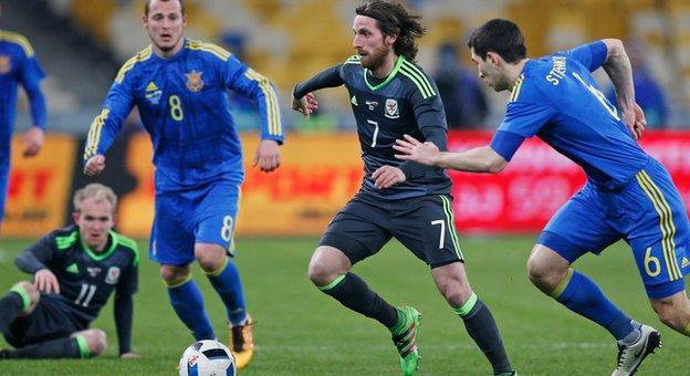 Wales midfielder Joe Allen impressed against Ukraine