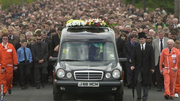 Joey Dunlop's funeral