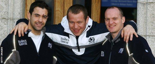 Budge Pountney, Mattie Stewart and Gregor Townsend