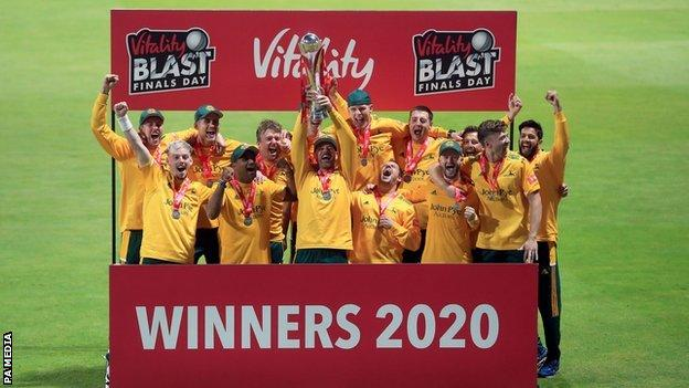 Jake Ball did not make the Sydney Sixers side for the Big Bash final down under in February, but he was part of Notts' 2020 T20 winning side, taking three wickets on Final Day