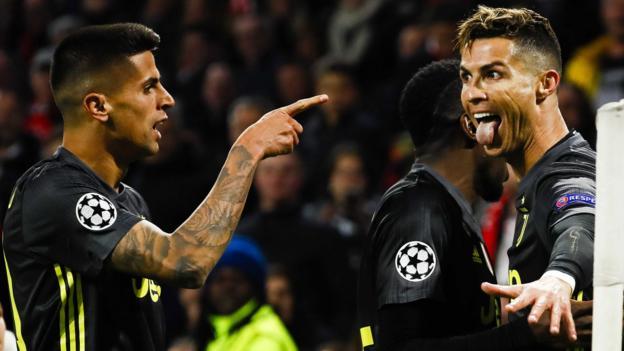 Ajax 1-1 Juventus: Cristiano Ronaldo scores 125th Champions League goal thumbnail