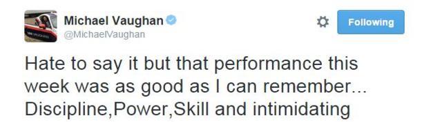 Michael Vaughan on Twitter