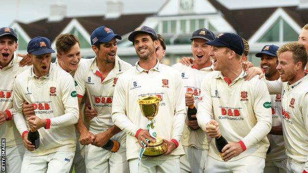 Essex celebrate winning the County Championship in 2019