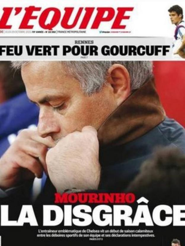 L'Equipe front page