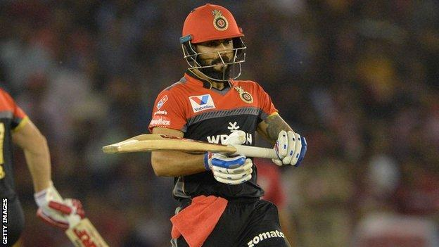 Indian captain Virat Kohli playing for Royal Challengers Bangalore