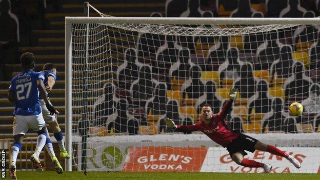 Danny Whitehall's penalty doubles Kilmarnock's lead