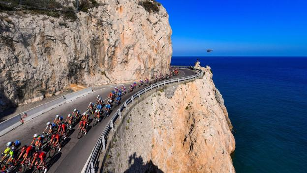 Riders during the 110th edition of the Milano-Sanremo cycling race, Italy, 23 March 2019. EPA/DARIO BELINGHERI