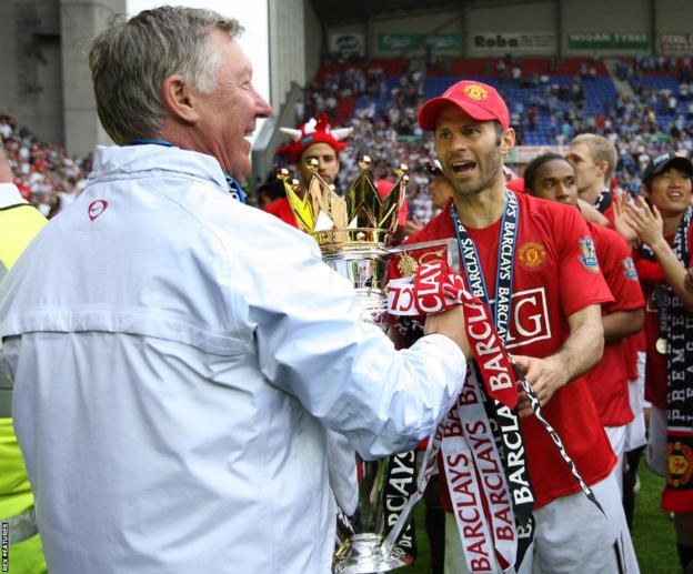 Ryan Giggs with former Manchester United manager Sir Alex Ferguson