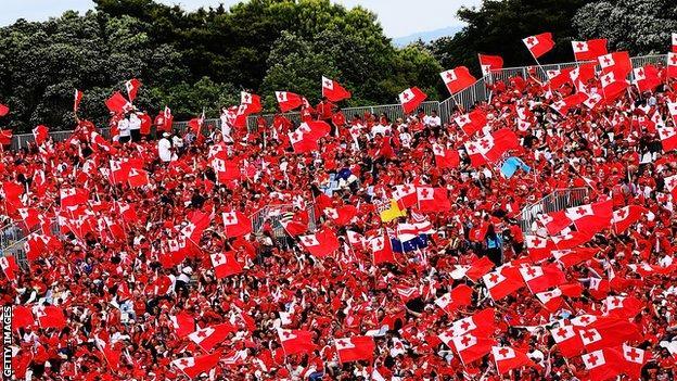 Tonga fans at 2017 World Cup