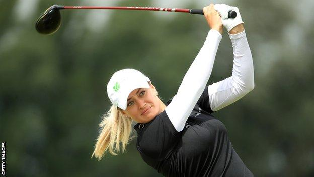 Amy Boulden was rookie of the year on the European Tour in 2014