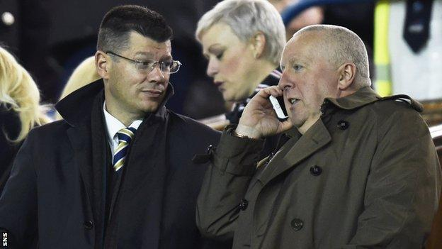 Neil Doncaster and Iain Blair