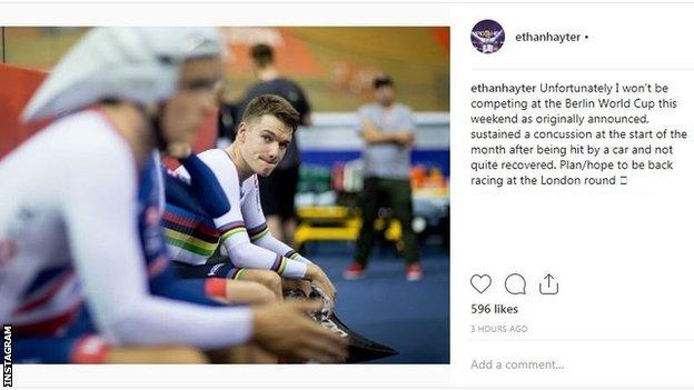 Ethan Hayter Instagram post