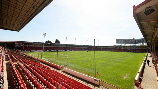 General view of Walsall's home ground