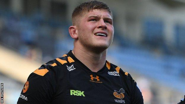 Jack Willis in action for Wasps