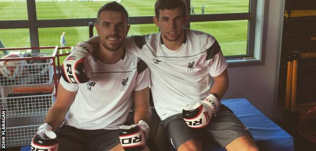 John Flanagan and his captain Jordan Henderson have been happy sparring partners