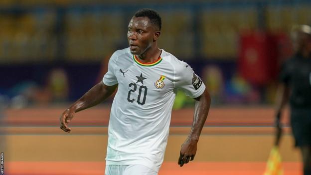 Kwadwo Asamoah in action for Ghana