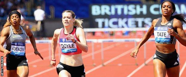 Eilidh Doyle is edged out by Cassandra Tate in Birmingham
