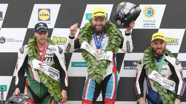 Ulster Grand Prix podium