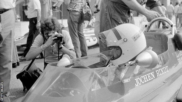 Rindt, pictured at the 1970 Monza Grand Prix