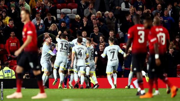 Derby County secured their first victory at Old Trafford since 2001