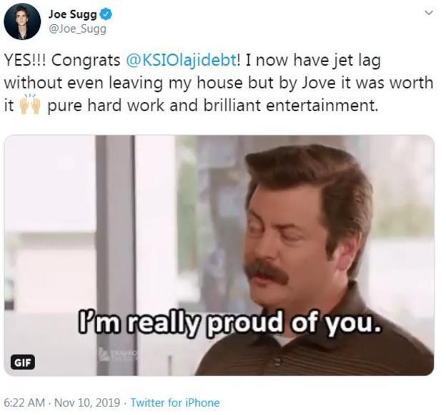 Joe Sugg Tweet
