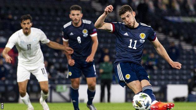 Scotland 1 1 Israel Steve Clarke S Side Held In Nations League Opener Bbc Sport