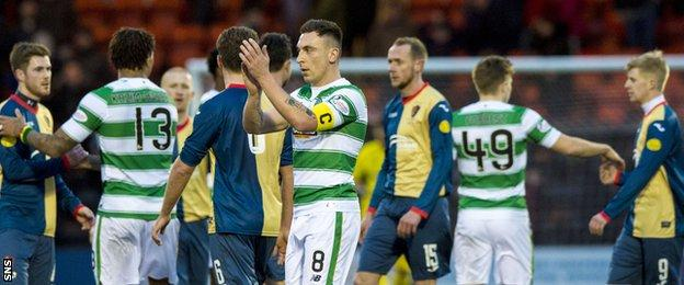 The East Kilbride players gave a good account of themselves against the Scottish Premiership leaders