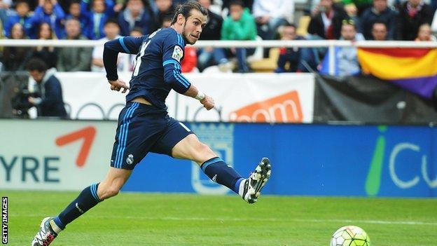 Gareth Bale of Real Madrid