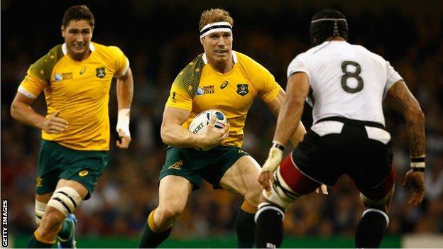 David Pocock in action for Australia